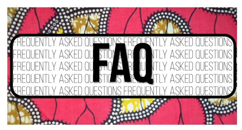 FAQ with background