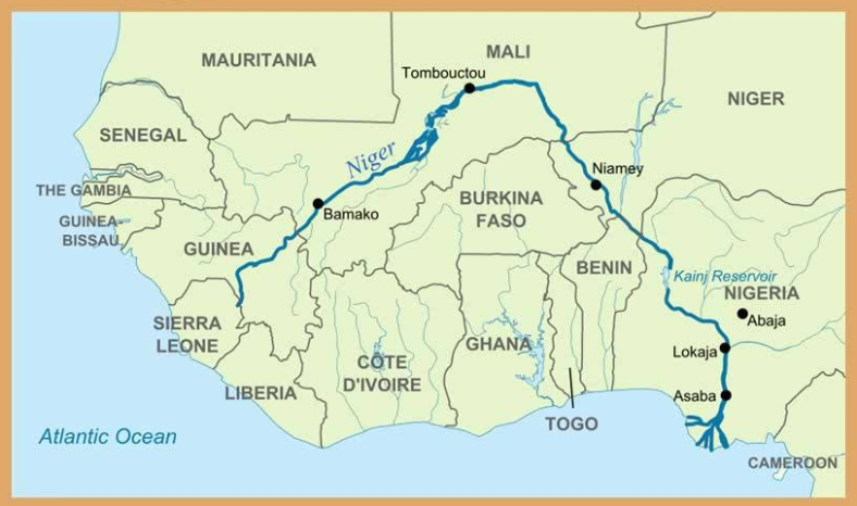 niger river map
